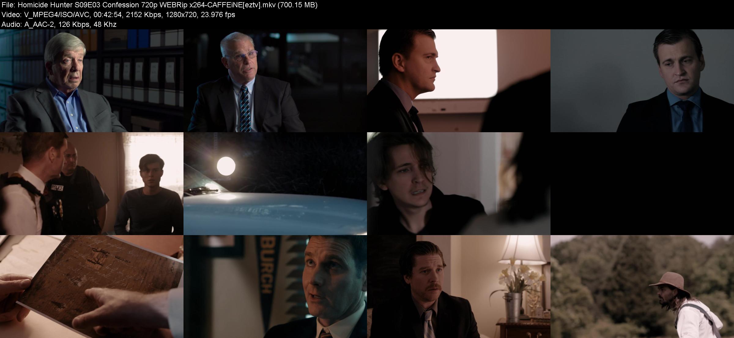 Homicide Hunter S09E03 Confession 720p WEBRip x264-CAFFEiNE