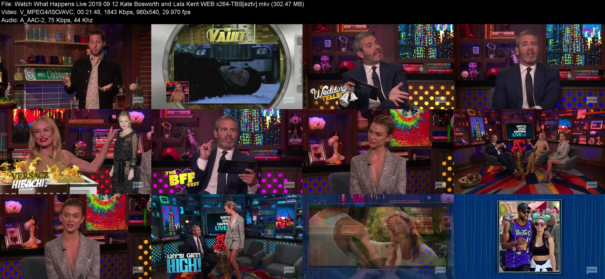 Watch What Happens Live 2019 09 12 Kate Bosworth and Lala Kent WEB x264-TBS